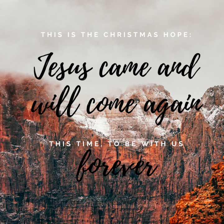 Day 24: Jesus came for the first time on Christmas, He will come again