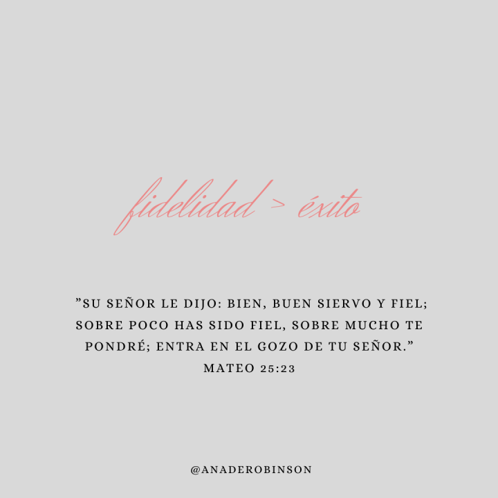Dios demanda mi fidelidad, no miperfección